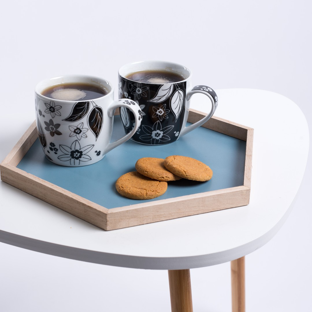 Coffee mugs and a tea tray by Flying Tiger | product shots by Carla Watkins Business & Branding Photography | carlawatkins.com
