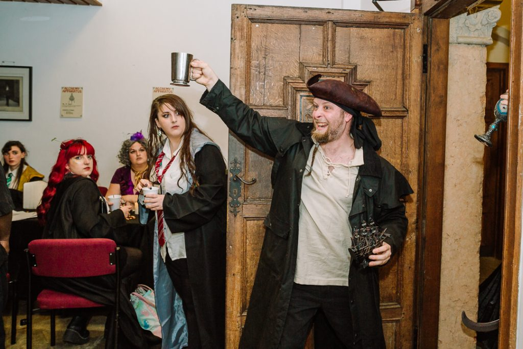 A pirate, in a castle, in a larp. Wizard school is full of surprises!