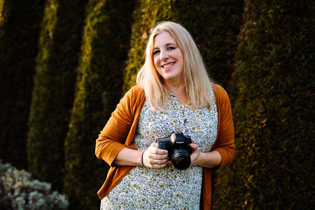 portrait of Amy with her camera
